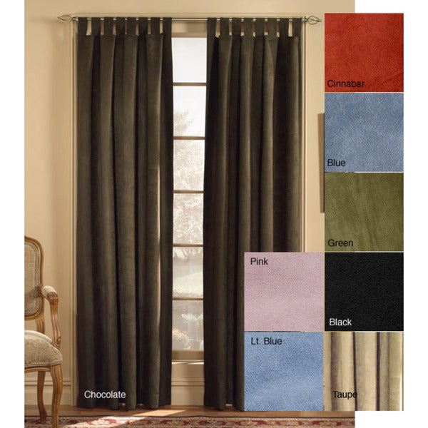 Microsuede Tab Top 63 Inch Curtain Panel Free Shipping