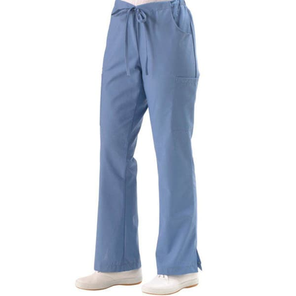 Medline Women's 5-pocket Cargo Ciel Blue Scrub Pants