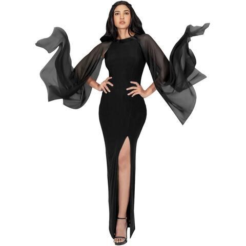 KOH KOH Womens Formal High Slit Flowy Sleeve Floor Length Maxi Dress