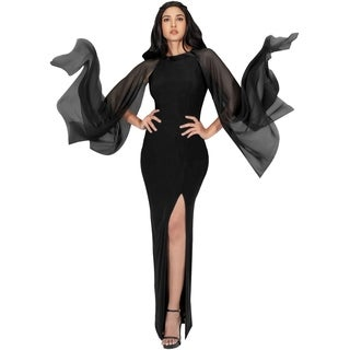 KOH KOH Womens Formal High Slit Flowy Sleeve Floor Length Maxi Dress