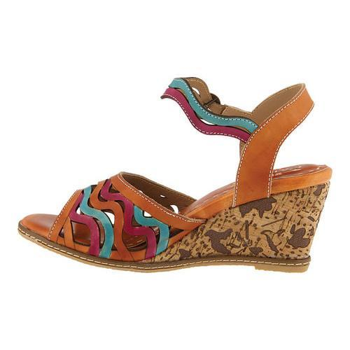 Women's L'Artiste by Spring Step Melania Wedge Sandal Camel Leather - Free  Shipping Today - Overstock.com - 25683105