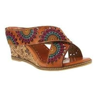 Women's L'Artiste by Spring Step Enticing Slide Camel Leather