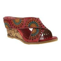 Women's L'Artiste by Spring Step Enticing Slide Red Leather