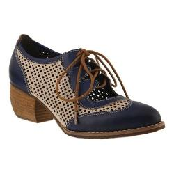 Women's L'Artiste by Spring Step Gabriel Wing Tip Blue Multi Leather
