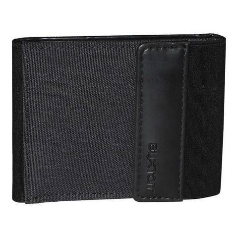 Men's Buxton Hooke's RFID Flex Bifold Wallet Black