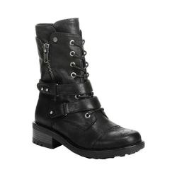 Women's Carlos by Carlos Santana Sage Moto Boot Black Manmade Leather