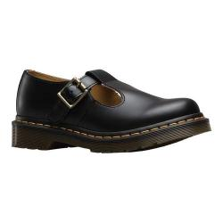 Women's Dr. Martens Polly T Strap Black Smooth Leather