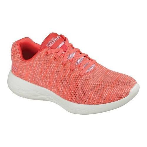 Women's Skechers GOrun 600 Obtain Running Shoe Coral (Pin...