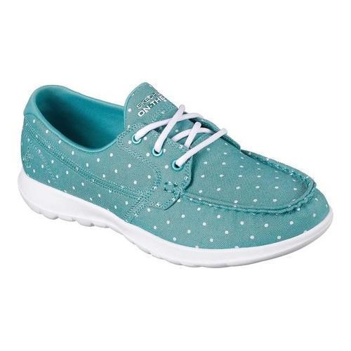 e0c1dc1f0294 Shop Women s Skechers GOwalk Lite Soleil Boat Shoe Turquoise - Free  Shipping Today - Overstock - 19754613