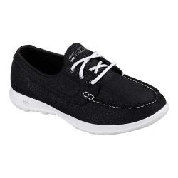 Women's Skechers GOwalk Lite Eclipse Boat Shoe Black/White