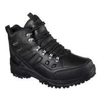Men's Skechers Relaxed Fit Relment Traven Hiking Boot Black/Black