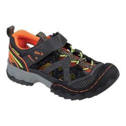 Boys' Skechers Whipsaw Wander Trek Trail Sandal Charcoal/Orange
