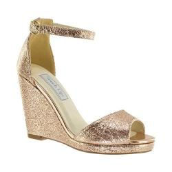 Women's Touch Ups Holly Platform Wedge Rose Gold Foil