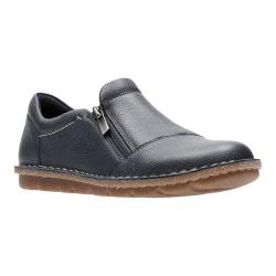 Women's Clarks Tamitha Cattura Sneaker Navy Scrunch Full Grain Leather