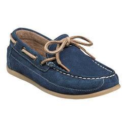 Boys' Florsheim Jasper Tie Boat Shoe Jr. Navy Suede