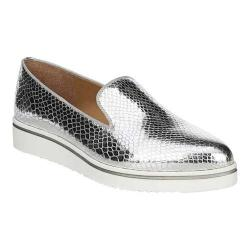 Women's Franco Sarto Fabrina Slip On Silver Shiny Snake Synthetic