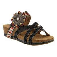 Women's L'Artiste by Spring Step Deonna Slide Black Multi Leather