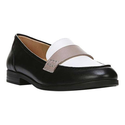 Women's Naturalizer Veronica Loafer Black/White/Grey Leather