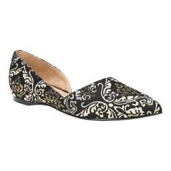 Women's Naturalizer Samantha D'Orsay Shoe Black/Gold Fabric