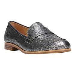 Women's Naturalizer Veronica Loafer Silver Metallic Crackle Leather