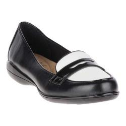 Women's Soft Style Daly Loafer Black/White Vitello/Patent (More options available)