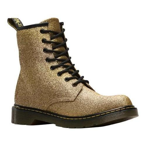 fbf5ad33b0a Children's Dr. Martens Delaney 8 Eye Side Zip Boot - Youth Gold Multi  Glitter PU