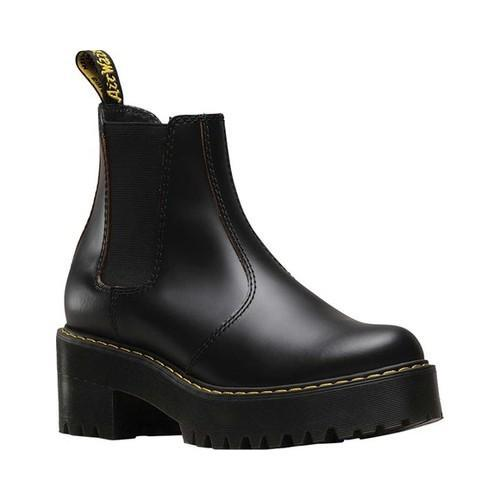 Women's Dr. Martens Rometty Chelsea Boot Black Vintage Smooth Leather