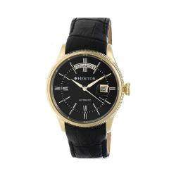 Men's Heritor Automatic HR5807 Vernon Watch Black Crocodile Leather/Gold Stainless Steel/Black
