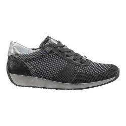 Women's ara Lilly 34027 Sneaker Black Woven