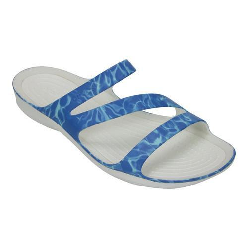 a801e155200ad9 Shop Women s Crocs Swiftwater Graphic Slide Sandal Water White - Free  Shipping On Orders Over  45 - Overstock.com - 19817725