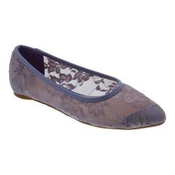 Women's Penny Loves Kenny Knot Lace Pointed Toe Flat Lavender Lace