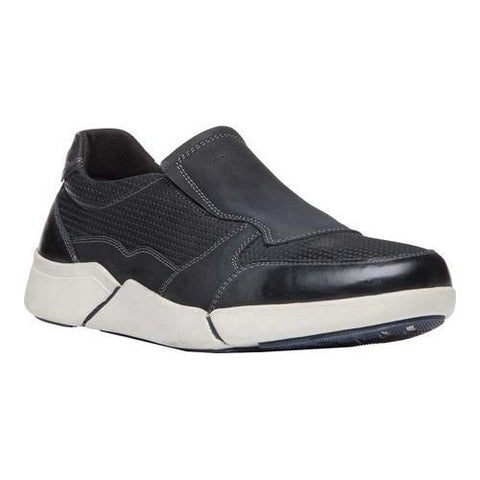 Men's Propet Lane Sneaker Black Nubuck