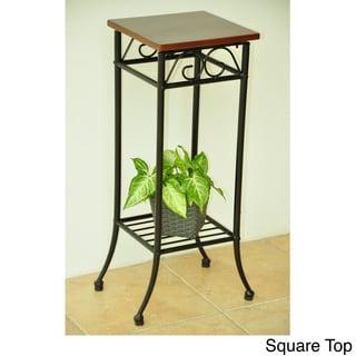International Caravan Iron & Wood Plantstand