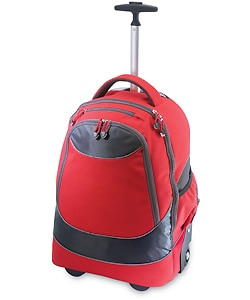 G. Pacific by Traveler's Choice Horizon Padded Wheeled Upright Laptop Backpack