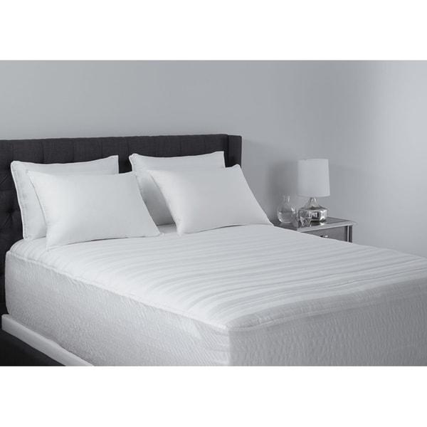 Hotel Madison 400 Thread Count Pima Cotton Mattress Pad - White