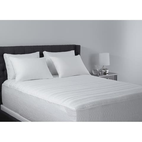 Hotel Madison 400 Thread Count Pima Cotton Mattress Pad - White