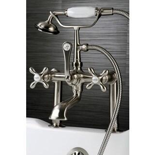 Satin Nickel Clawfoot Tub Faucet