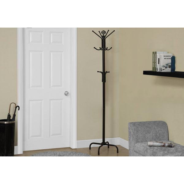 "Coat Rack - 70""H / Black Metal"