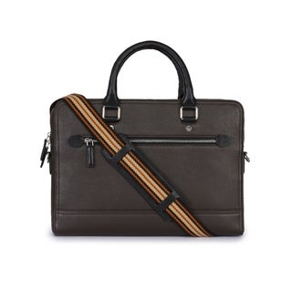 Handmade Phive Rivers Men's Leather Brown Laptop Bag (Italy) - One size