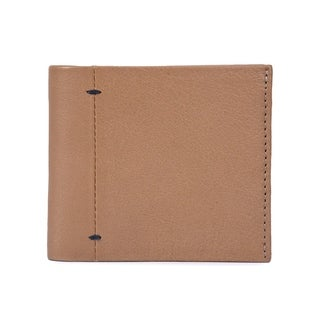 Handmade Phive Rivers Men's Leather Beige Wallet (Italy) - Small