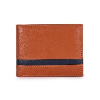 Handmade Phive Rivers Men's Leather Tan Wallet (Italy) - Small
