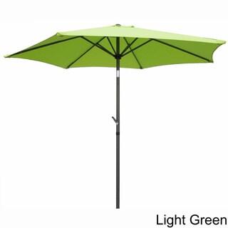 International Caravan Aluminum Tilt and Crank 8-foot Outdoor Umbrella