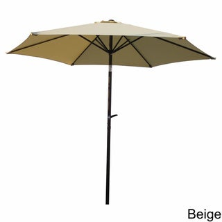 International Caravan Aluminum Tilt And Crank 8 Foot Outdoor Umbrella