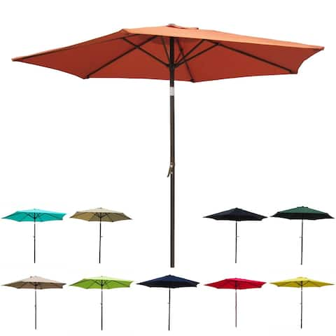 International Caravan St. Kitts 8-foot Crank-and-Tilt Patio Umbrella