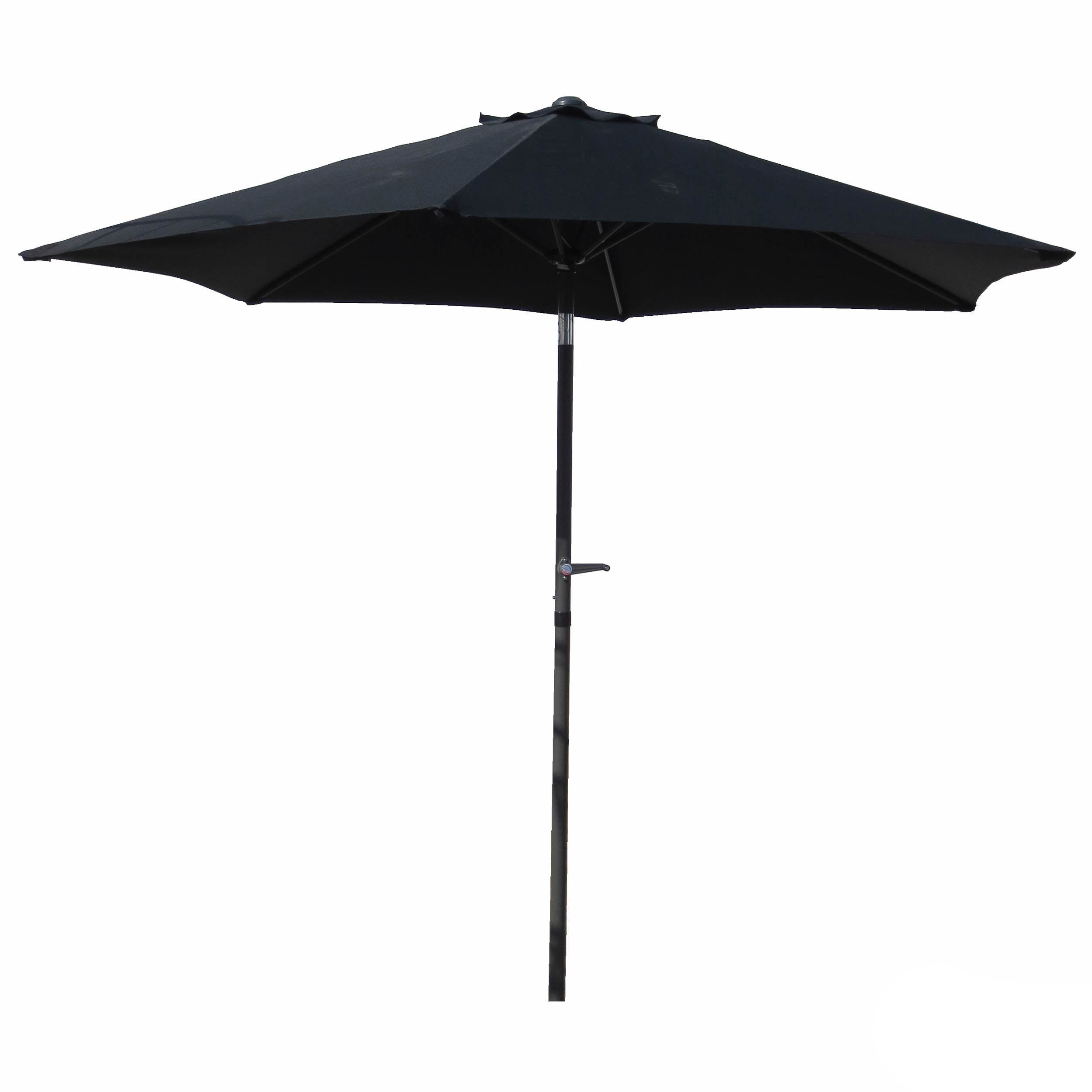 Exceptional Patio Umbrella 8 Foot (Option: Black Canopy)
