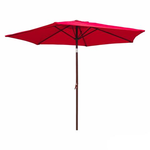 International Caravan St. Kitts 8-foot All-Weaether Crank-and-Tilt Patio Umbrella