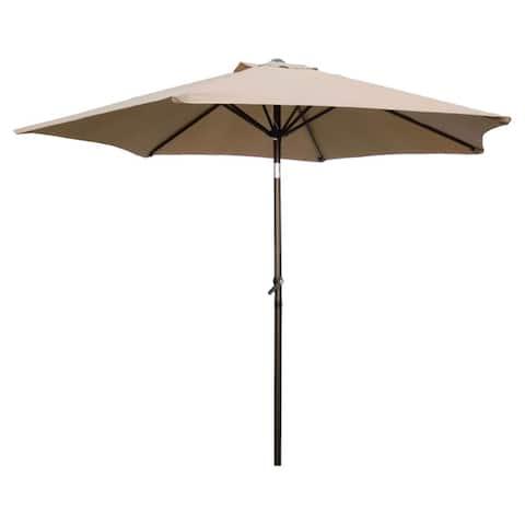 International Caravan St. Kitts 8-foot Crank-and-Tilt Patio Umbrella
