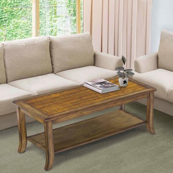 Sleeplanner Wood Top Coffee Table, brown 18TB11D