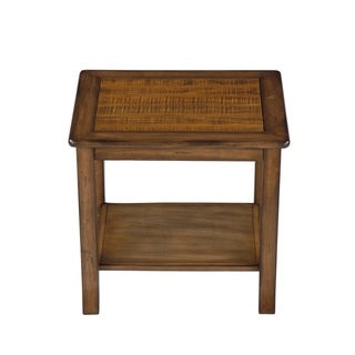 Sleeplanner Wood Top Side Table, brown 22TB11D