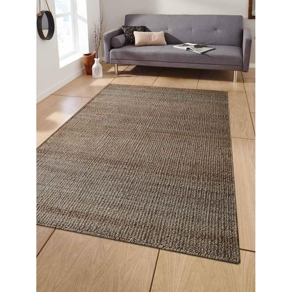 Hand Woven Jute Contemporary Eco Friendly Area Rug Natural